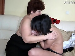 Granny and juvenile woman