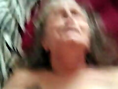 Grandmother on her back getting fucked PT1