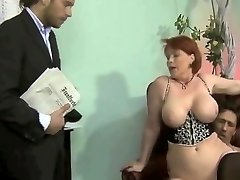 chubby german milf 3some