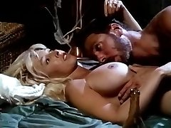 Victoria Paris, Steve Drake in busty bimbo in black boots performs vintage sex