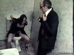 Pummeling on the bathroom floor