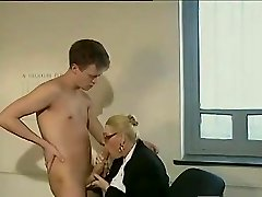 Ample dick guy fucks a mature assistant