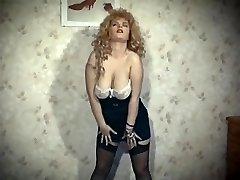 THE SKIN TRADE - vintage 80's big tits blonde strip dance