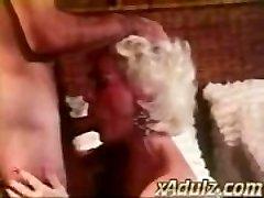 Retro Grey Haired Grandma Gives Sensual Deepthroat and Jug Job