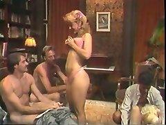 Hot retro group hump action with Nina Hartley