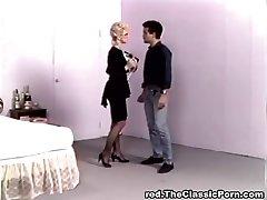 Platinum-blonde begging for jizz explosion