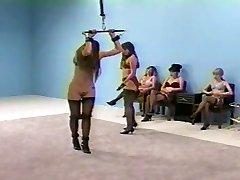 femdom flogging in lingerie (boulder-holder and fullback pantys)