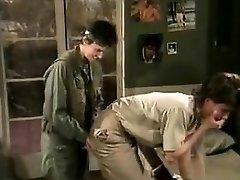 Jamie Summers, Kim Angeli, Tom Byron in old school hump scene