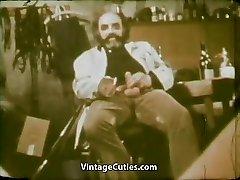 Girl Munching Cum of Ugly Old Man (1970s Vintage)