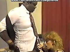Black manager fucking redhead whore