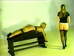 Retro Female gets smacked and fucked.