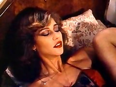 Retro Classical - Damsel in Satin Lingerie Pleasuring Herself