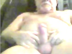 grandpa stroke and lick precum