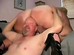 Mature BBW Getting Her Thick Labia Licked