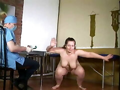 plump nude woman medical examination