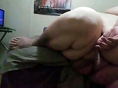 Ssbhm masturbating on the edge of the bed