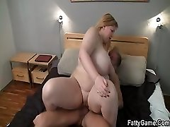 Hard lovemaking with fatty after massage