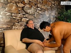 AmateurEuro - Hot Bbw Wife Blows & Fucks With Husband On Cam
