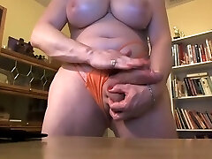 Ample transsexual with hung cock