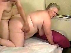 Amateur fat grandma enjoys cock