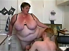 BBW Threesome #6 (Huge Granny & Two Young Guys)