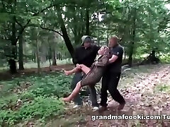 Grandmother gets tied and fucked