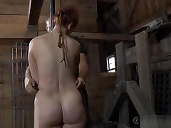 Intensive caning with torturous torment for tattooed slave