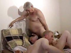 grandpa sucking balls