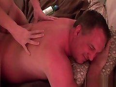 Jacob massages Daddy makes him jizm