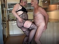 Angry BBW Ballbusting Poor Elderly Gunther!