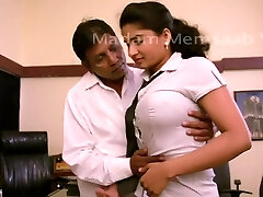 Desi College Girl Romancing With Professor For Promotion - Big Boob Pressed Bgrade