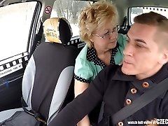 Czech Mature Blond Hungry for Cab Drivers Cock