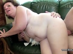 Mommy caught german boy and get fucked in all crevasses