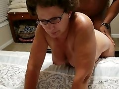 Shelly bent over and ravaged rock-hard in front of her husband