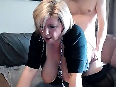 Rhyse Richards enormous boobs blonde mature