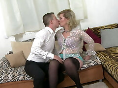 Taboo home sex with real mature mummy Mirka
