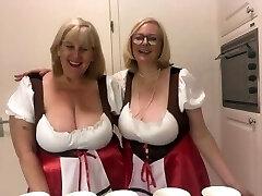Oktoberfest - Two busty topless blondes