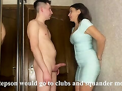 Hottest romp of a stepmom and stepson while her husband earns money on a business trip