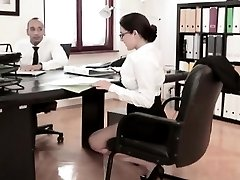 Busty babe Valentina Nappi fucked in the office with boss