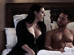 Passionate goodbye fuck-fest with curvaceous busty milf Angela White