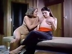 1979 classic porno well-lubed lesbians pussy licking in sauna