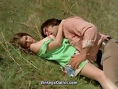 Fellow Tries to Seduce teenie in Meadow (1970s Vintage)