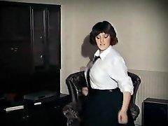 WHOLE LOTTA ROSIE - vintage large tits schoolgirl unwrap dance