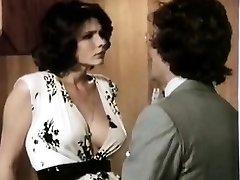 Veronica Hart, Lisa De Leeuw, John Alderman in old-school porno