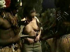 Busty Brunette Gets Torn Up By Jungle Big Black Cock Monsters