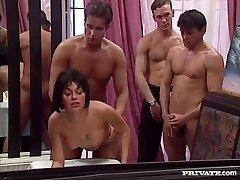 Rita Cardinale, Gang-bang and Mass Ejaculation in the Restaurant
