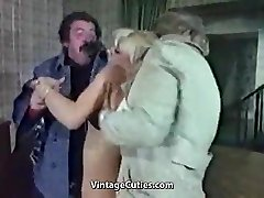 Slutty Blonde Abjected Really Rough (1970s Vintage)