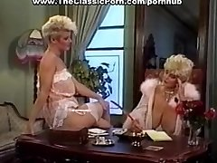 Cock worshipped by retro buxomy girl
