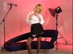 Naughty Uniform Blonde Disrobes !!