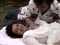 Retro porn shows a plump chick getting pummeled outside